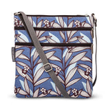 Wildflower Blue Triple Zip Crossbody Bag - insideout-home
