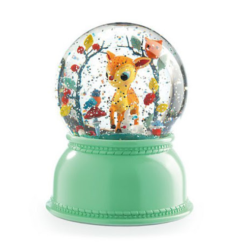 Fawn Night Light Snow Globe - insideout-home