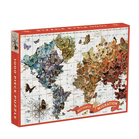 Wendy Gold Butterfly Migration 1000 Piece Jigsaw Puzzle - insideout-home