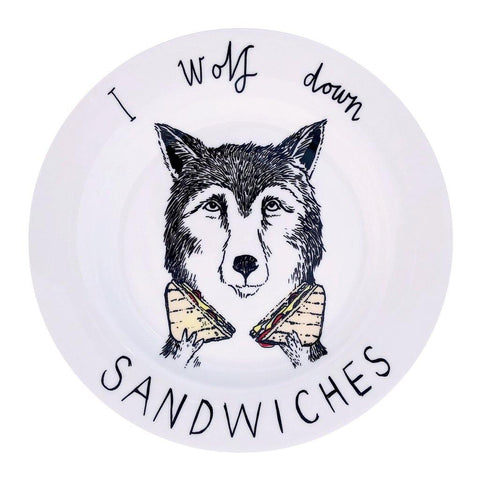 Wolf Sandwiches Side Plate - insideout-home