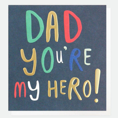 Dad You're My Hero Card - insideout-home