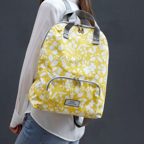 Spring Oil Cloth Backpack Sherbet Yellow - insideout-home