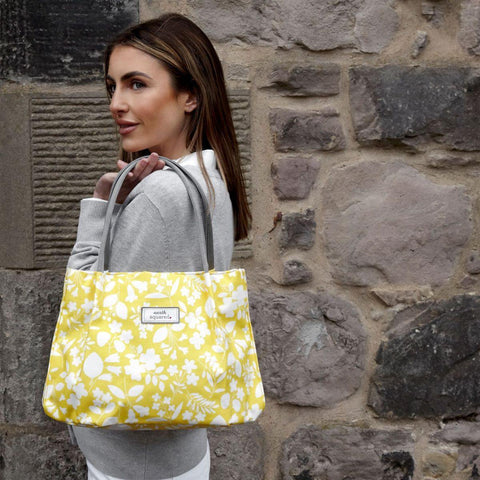 Spring Oil Cloth Freya Bag Yellow Sherbet - insideout-home