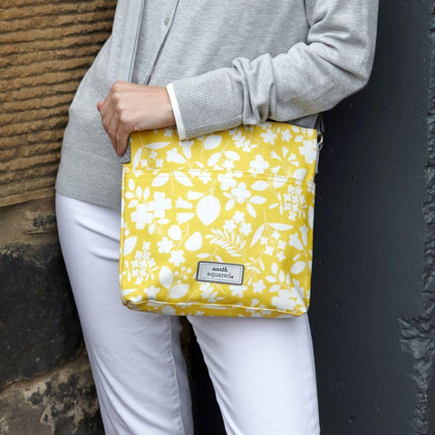 Spring Oil Cloth Messenger Bag Sherbet Yellow - insideout-home