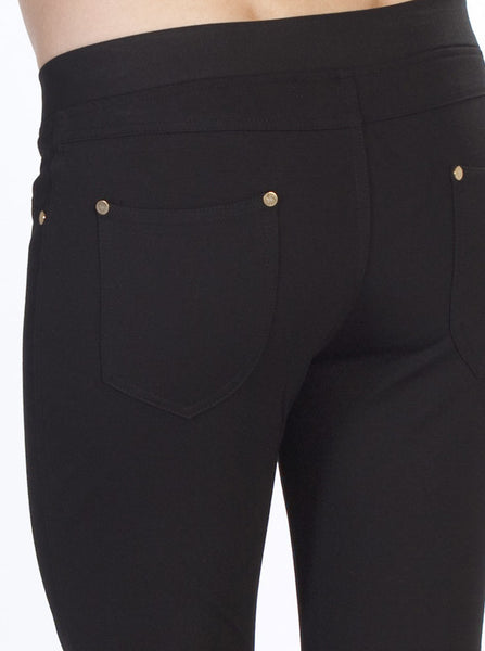 Black Slim Fit Maternity Jeans - Angel Maternity Europe - 3