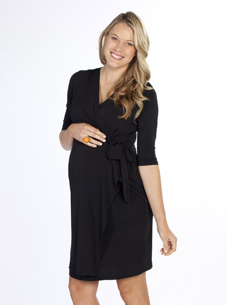 """Emy"" Maternity Wrap Dress - Angel Maternity Europe - 2"