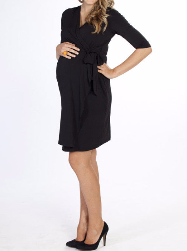 """Emy"" Maternity Wrap Dress - Angel Maternity Europe - 1"