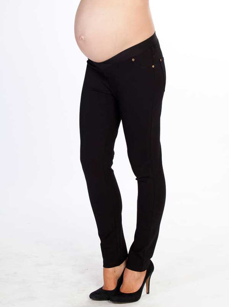 Black Slim Fit Maternity Jeans - Angel Maternity Europe - 1