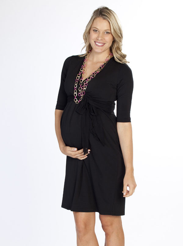 'Charlotte' Maternity Net Jersey Dress - Angel Maternity Europe - 1