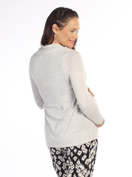 Knitted Cardigan with Waist Tie Navy - Angel Maternity Europe - 3