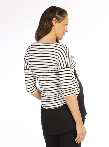 Stripe Maternity Top - Angel Maternity Europe - 1