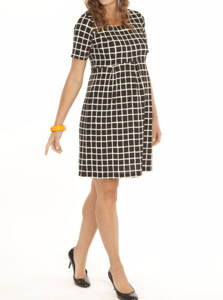 Plaid Maternity Work Dress - Angel Maternity Europe - 1