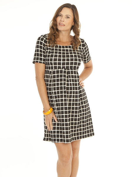 Plaid Maternity Work Dress - Angel Maternity Europe - 2
