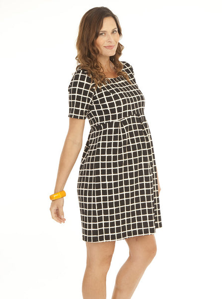 Plaid Maternity Work Dress - Angel Maternity Europe - 4