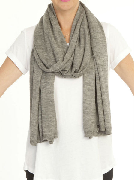 Versatile Wool Shawl Taupe - Angel Maternity Europe - 4