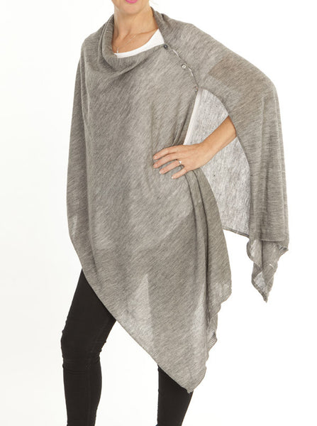 Versatile Wool Shawl Grey - Angel Maternity Europe - 2