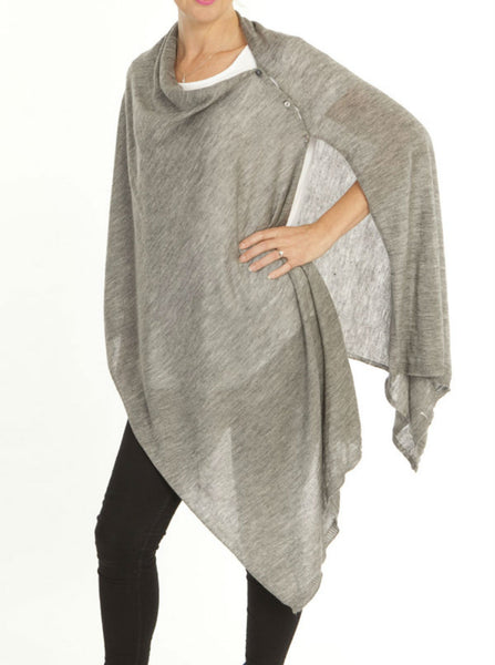 Versatile Wool Shawl Taupe - Angel Maternity Europe - 5