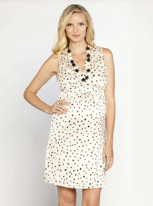 Chiffon Polka Dots Maternity Dress - Angel Maternity Europe - 1