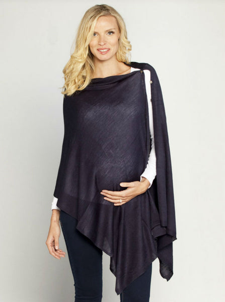 Versatile Wool Shawl Taupe - Angel Maternity Europe - 3