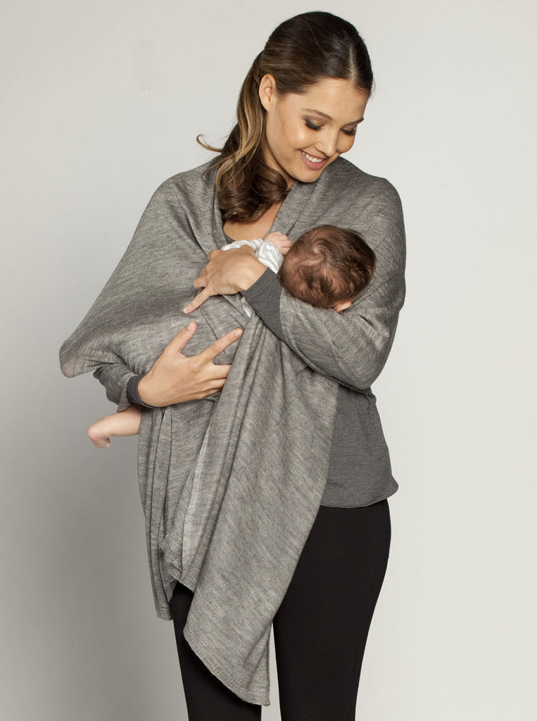 Versatile Wool Shawl Grey - Angel Maternity Europe - 1