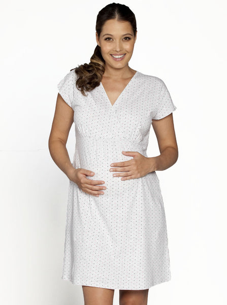 Light Grey Maternity Nightie - Angel Maternity Europe - 5
