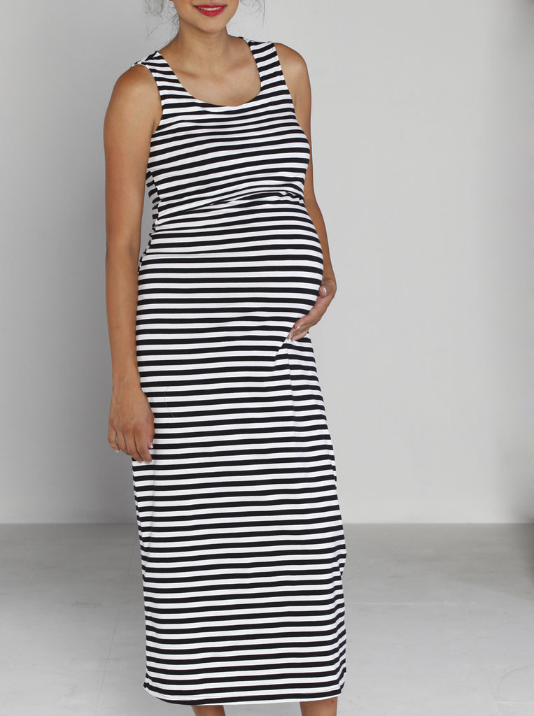 Maternity and Breastfeeding Maxi Dress - Angel Maternity Europe - 1