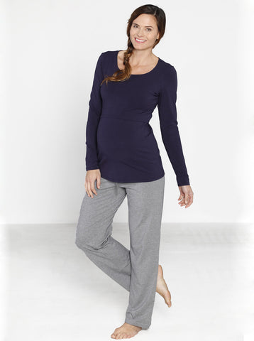 Cotton Maternity Lounge Trousers - Angel Maternity Europe - 1