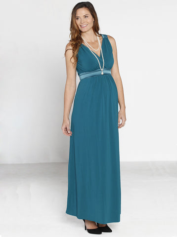 Long Maternity Evening Dress - Angel Maternity Europe - 1