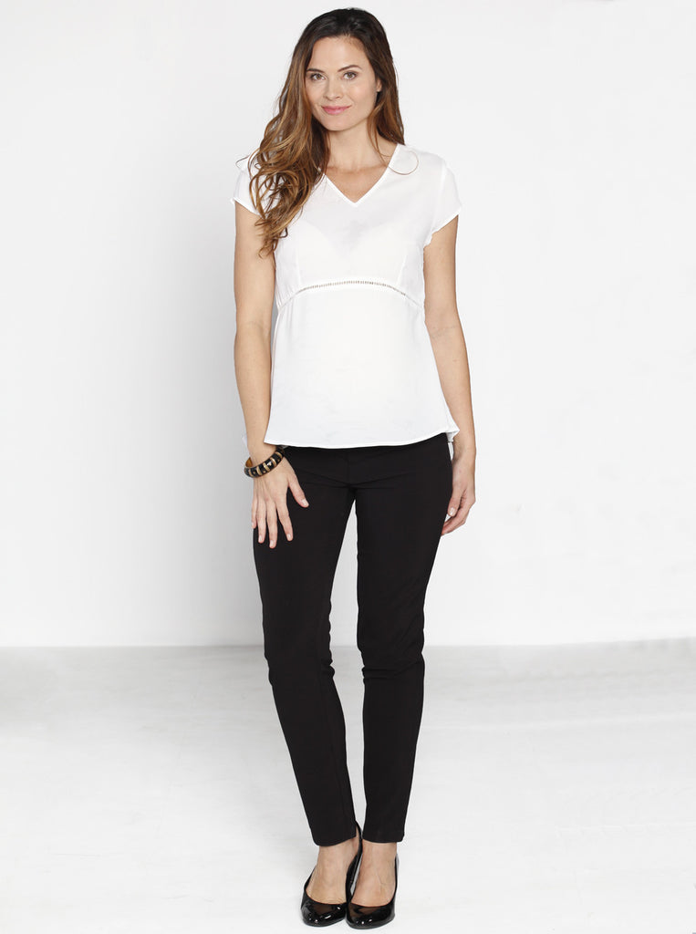Black Maternity Work Trousers