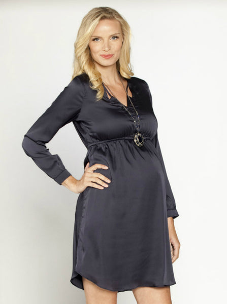 Maternity evening dress - Gun metal grey - Angel Maternity Europe - 1