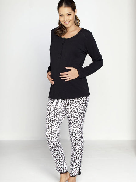 Cotton Maternity and Breastfeeding Pyjamas - Angel Maternity Europe - 4