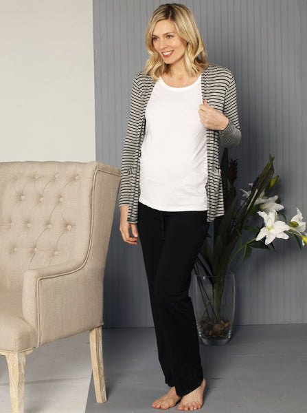 Cotton Maternity Lounge Trousers - Angel Maternity Europe - 2