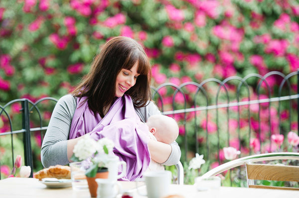 Breastfeeding scarf - orchid pink