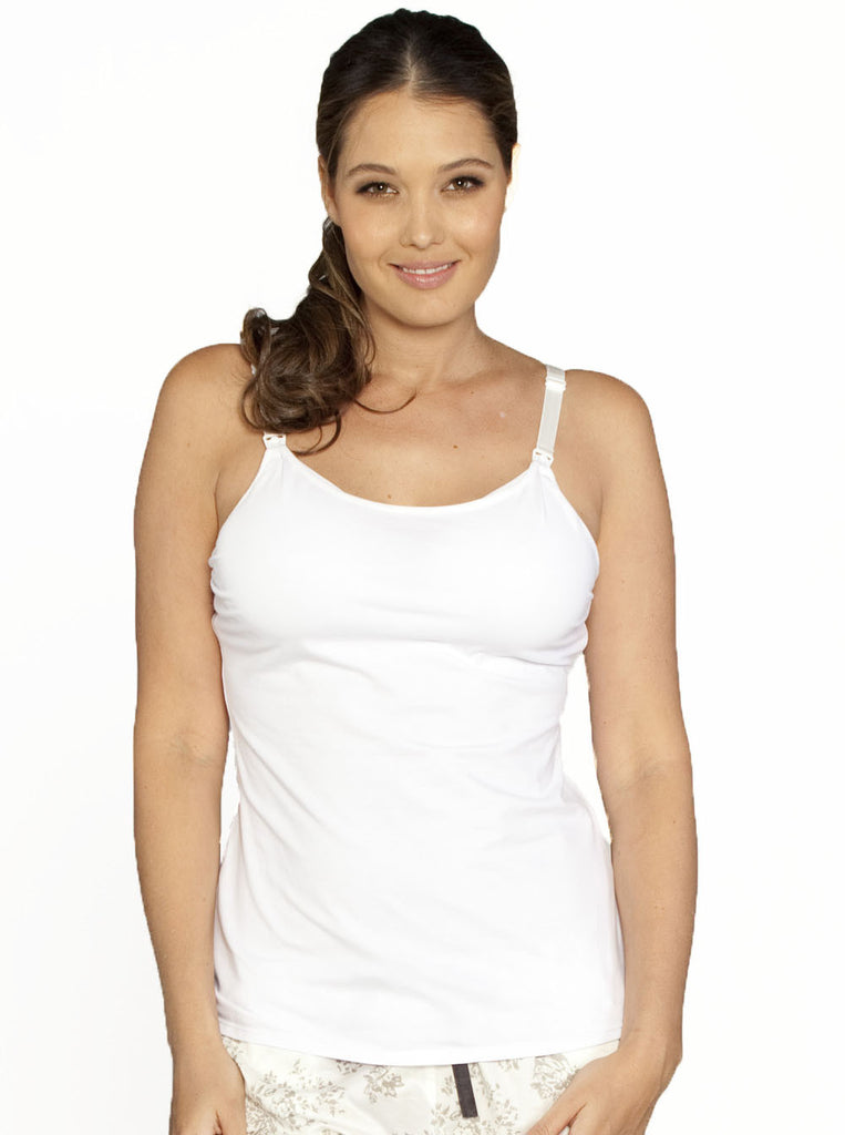 Basic Nursing Vest with Built-In Bra - Angel Maternity Europe - 1