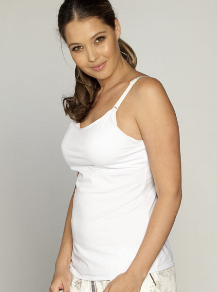 Basic Nursing Vest with Built-In Bra - Angel Maternity Europe - 3