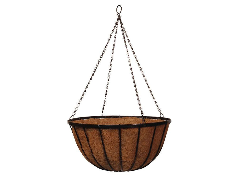 Wrought Iron Hanging Basket with Coco Liner