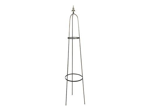 Raw Steel Garden Obelisk
