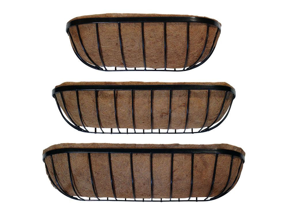 Trough Planter / Manger Planter - Prelined with coco liner