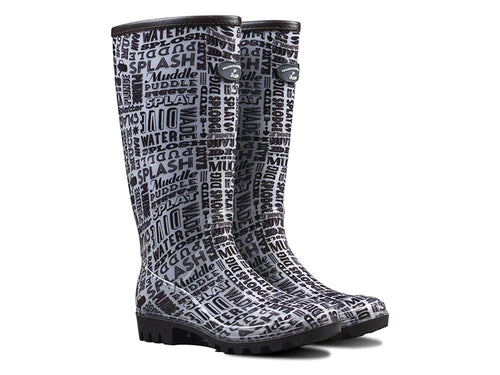 Briers Patterned Ladies Wellington Boots - Typo