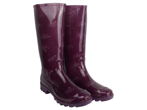 Briers Wild Flower Purple - Ladies Wellington Boots