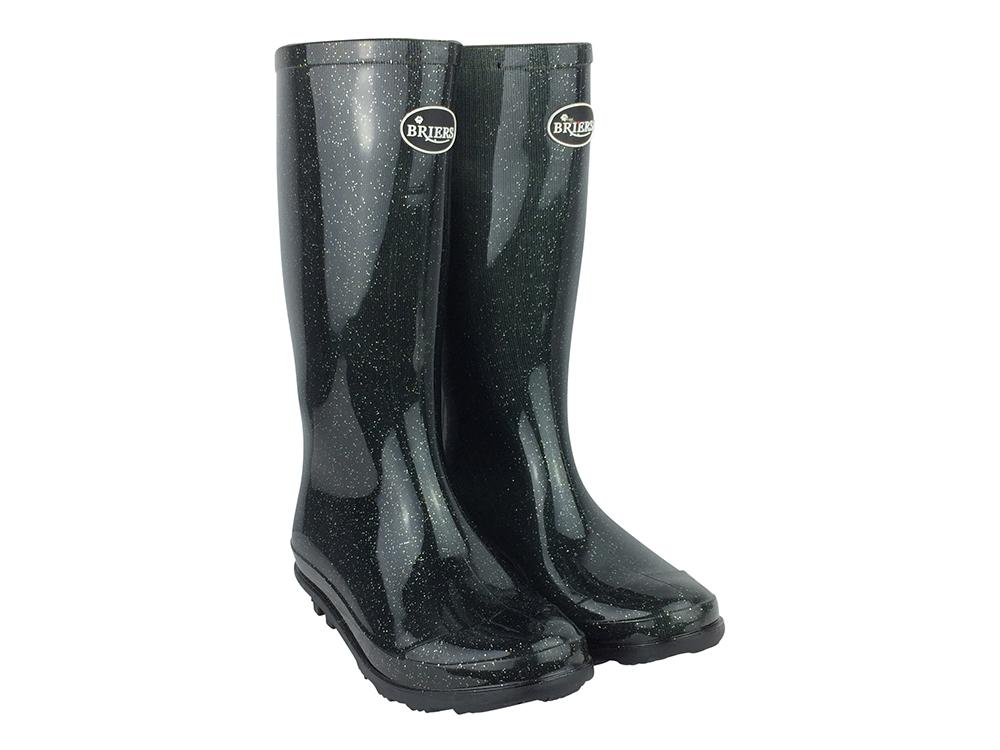 Briers Black Stardust - Children's Wellington Boots