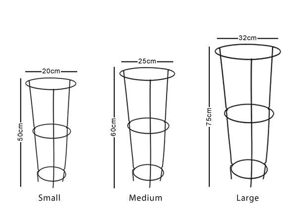 Conical Plant Support - Measurements