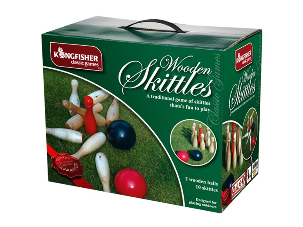 Wooden Skittles Garden Game Set