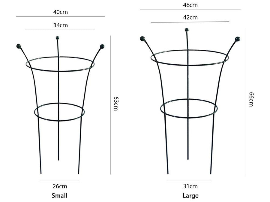 Peony Cage Plant Support - Measurements