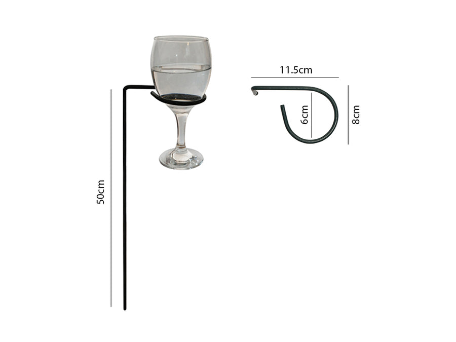 Garden Drinks Holders - Wine Glass Holder Measurements