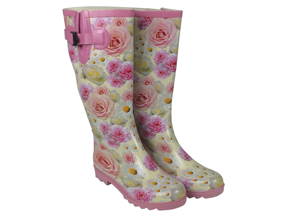 Pink Rose - Ladies Wellington Boots