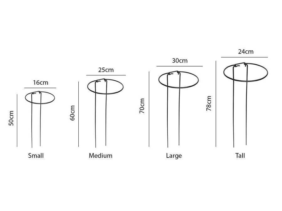 Plant Support Hoops - Measurements