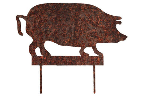 Rusty Pig Stake -