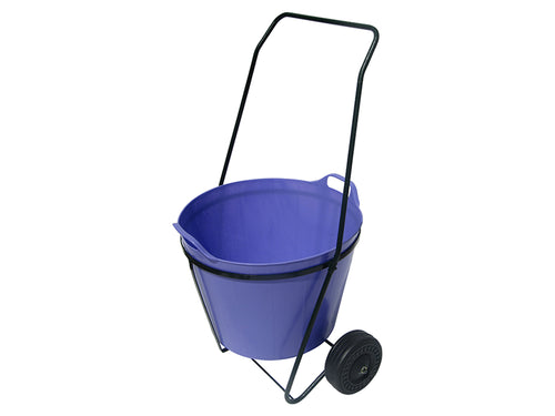 Trug Trolley for moving flexible rubber buckets - Lilac