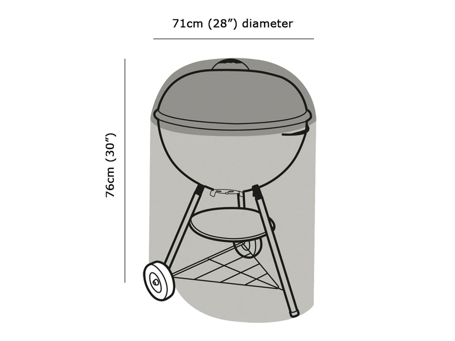 W1100 Kettle BBQ Cover Measurements